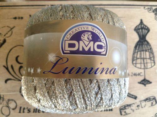 DMC Lumina Metallic Crochet Thread - White Gold L3866