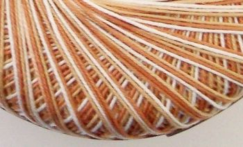 Crochet Thread - Variegated Beige 10s Cotton