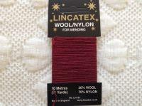 Lincatex sock darning wool Maroon Red 10 metres