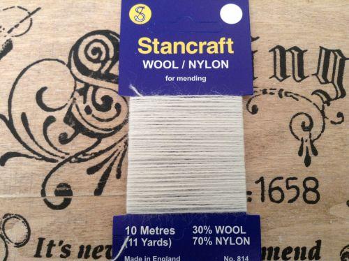 Stancraft Sock Darning Wool Cream Natural