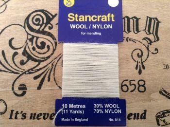 White Darning Wool For Socks Knitwear - Stancraft