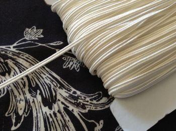 Russian Braid Fabric Trim Ivory Cream 1 mtr x 3mm Textile Cord Edging