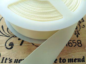 Blanket Binding 72mm Pre Folded Cream Satin Ribbon Half Metre