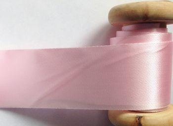 Blanket Binding Pre Folded Baby Pink Satin Trimming Ribbon Half Metre