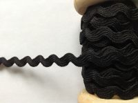 Black Ric Rac Trimming Ribbon 7mm Wide Sold By The Metre