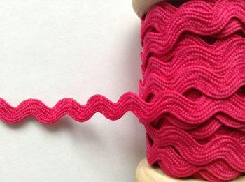 Bright Pink Ric Rac Ribbon 7mm Hot Pink Aprons Skirt Dolls Sewing Trim