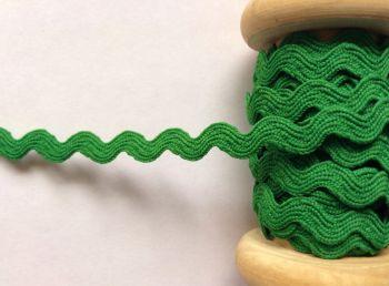 Green Ric Rac Ribbon Rick Rack 7mm Sewing Trim Emerald Green 1 Metre