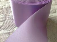 72mm Wide Lilac Satin Ribbon