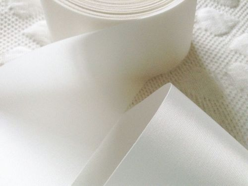72mm Wide White Satin Ribbon