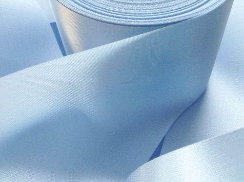 Light Blue Satin Ribbon 72mm Wide Half Metre Length Sky Blue