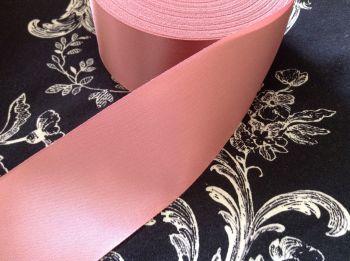 Dusky Pink Satin Ribbon 48mm Wide Half Metre Length