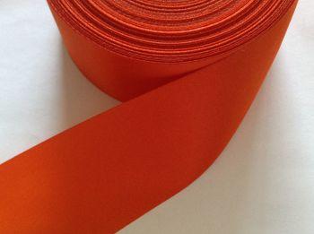 Orange Satin Ribbon 48mm Wide Fabric Edging Sold By Metre Tangerine 44
