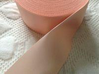 Peach Ribbon 48mm Wide Single Face Satin Per Half Metre