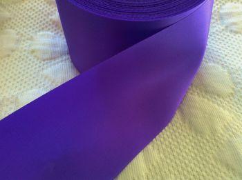 Purple Satin Blanket Binding Ribbon 72mm Wide Fabric Edging 1m Indigo