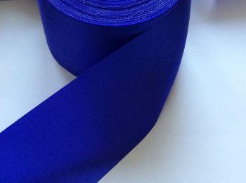 Royal Blue Satin Blanket Binding Ribbon 72mm Wide Fabric Edging 1m