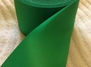 Satin Ribbon Emerald Green 72mm Wide Half Metre Length