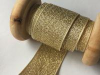 Berisfords Ribbon 1 Metre x 25mm Gold Lame