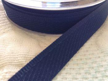 navy blue kick tape trouser hems full length gown skirt Berisfords 1m