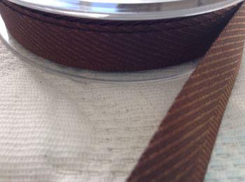 Brown 13mm Trouser Kick Tape - Berisfords 20 Metre Reel
