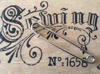 Large Silver Kilt Pin