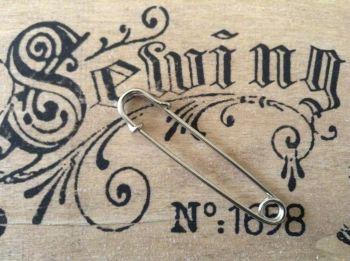 Silver Kilt Pin for Tartan Fabric Sewing