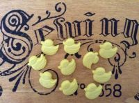 Yellow Duck Buttons For Sewing Crafts