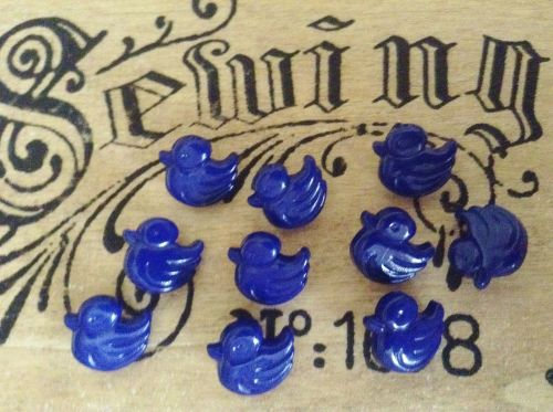 Royal Blue Duck Buttons