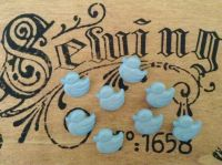 10 Baby Blue Ducklings -Duck Buttons