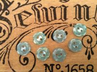 Turquoise Flower Buttons, Set of 10 x 11mm