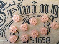 Peach Flower Buttons, Set of 10 x 11mm
