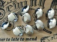 Silver Colour Blazer Buttons 10 x 22mm