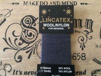 10 metres Lincatex sock darning wool Blue