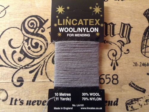 Grey Darning Thread - 10 Metres Lincatex