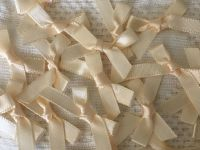 Ivory Satin Ribbon Bows