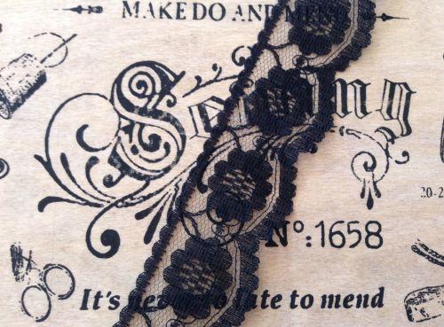 Black Lace For Dressmaking 25mm Wide