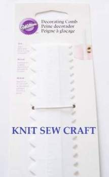 Wilton Cake Decorating Comb Serrated Edge for Icing