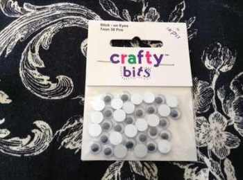7mm stick on wobbly eyes for crafts cards