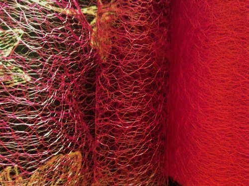 Red Spider Web Net 15cm Wide Netting Craft Material 1m Club Green