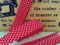 polka dots patterned bias binding
