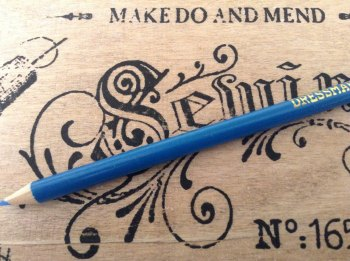 1 large fabric marking pencil for tailoring dressmaking BLUE