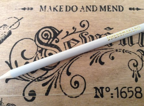 1 large fabric marking pencil for tailoring dressmaking WHITE