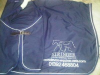 Horse Cotton Drill travel rug - Bespoke -  Made in your colours