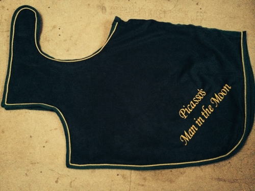 Horse Fleece Wrap around exercise rug - Bespoke -  Made in your colours Lux