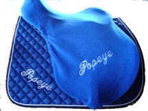 **Special Offer** Fitted Fleece Saddle Cover, Name on one Side - Saddle Sea