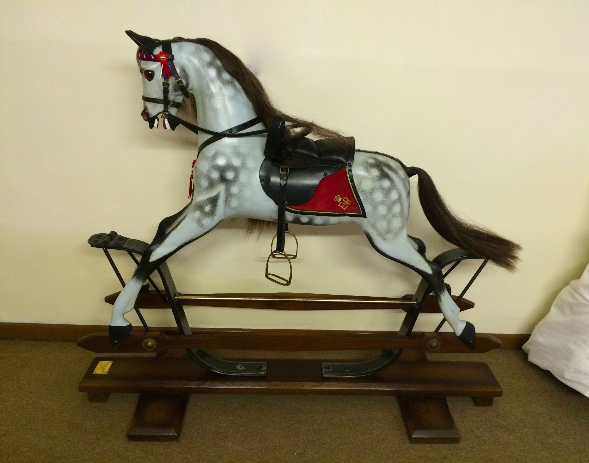 Jubilee springstand rocking horse by Stevenson Brothers