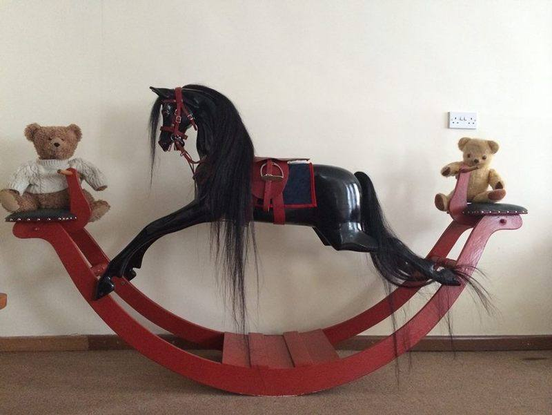 An original 'Eventer' type model of Haddon rocking horse on bows