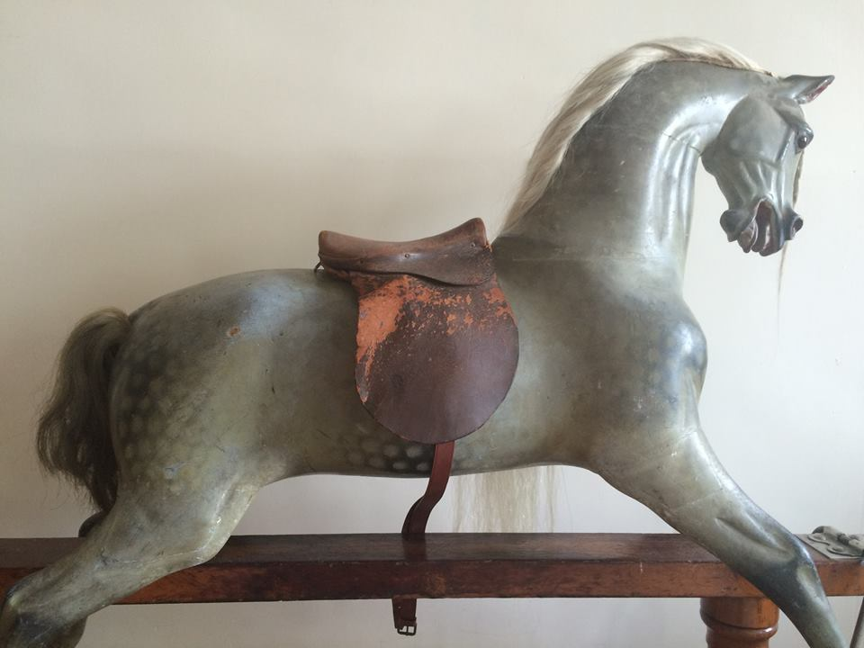 F H D type rocking horse extra carved in original condition