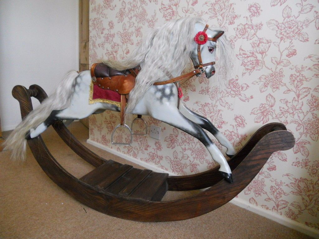 Pretty little bow rocking horse