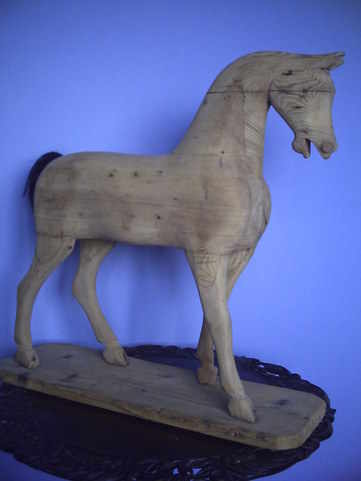 wood toy horse antique