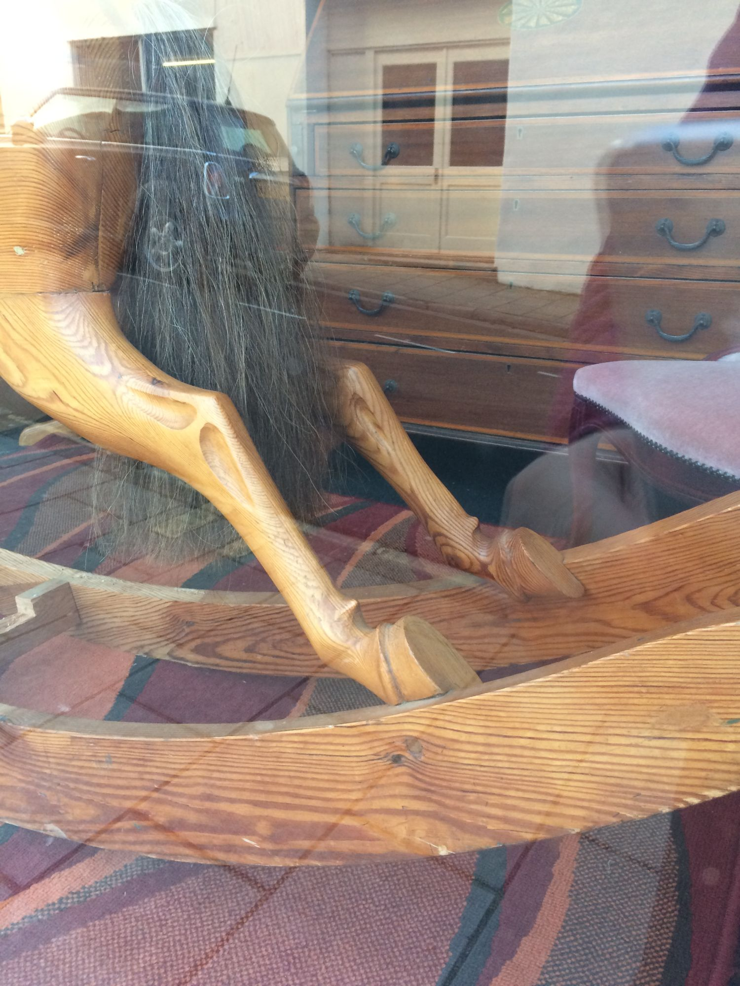 Wood Bow Rocking horse lovely extra carving